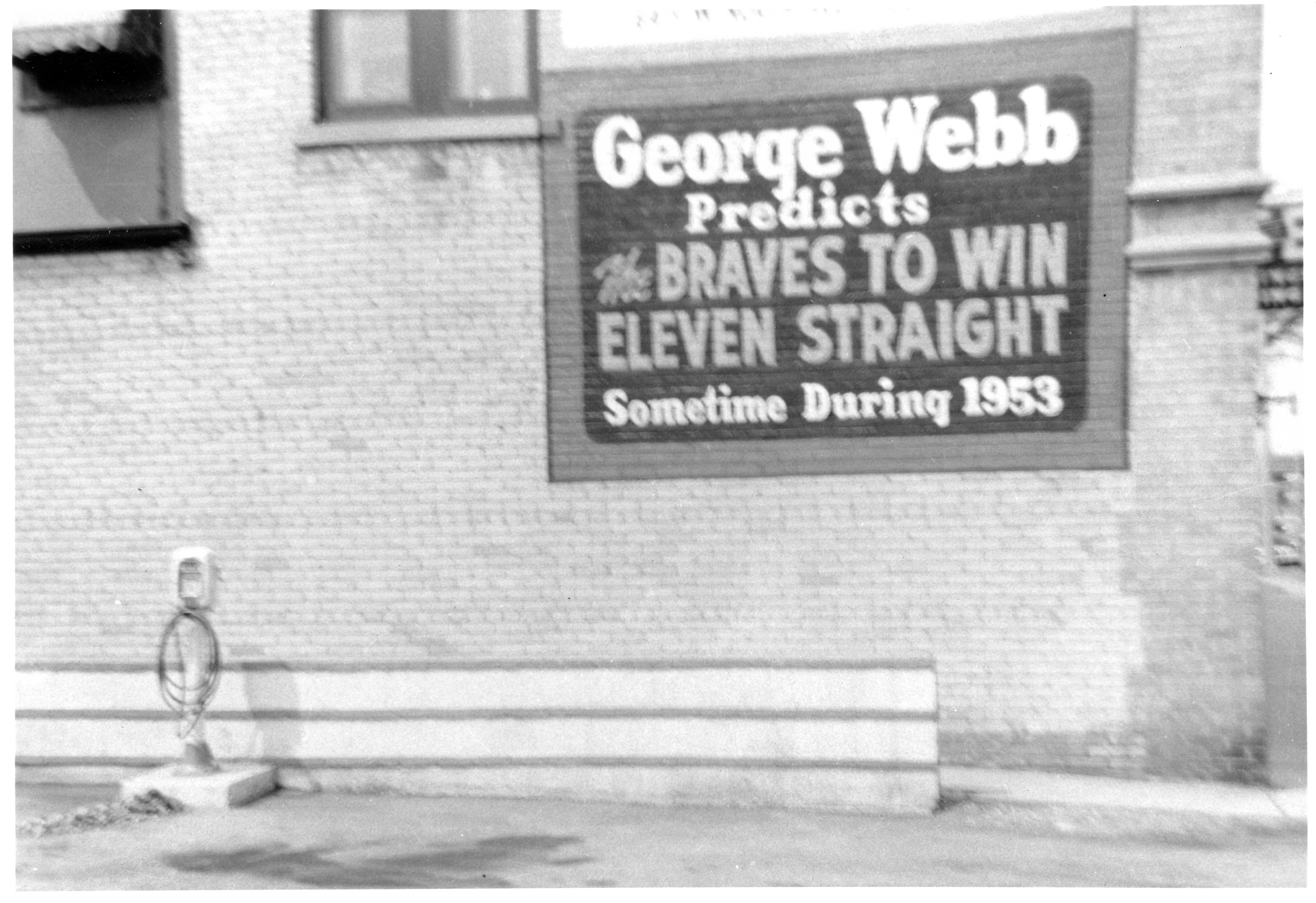 George Webb, 1957 at spring training in Bradenton Florida just prior to his death.